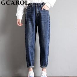 GCAROL nowych kobiet 93% mieszanki bawełny ołówkowe spodnie jeansowe wysokiej zwężone główna ulica w stylu boyfriend Jeans w 3 k