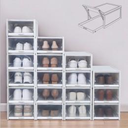 Baffect 3 sztuk/partia pudełka na buty stojak na buty plastikowe wieżowych Shoebox organizator butów na wysokie obcasy trampki b