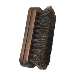Szczotka do butów z włosia końskiego miękka oryginalna włosie z włosia końskiego rękojeść z drewna buty do pielęgnacji skóry