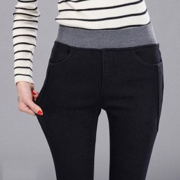 Dżinsy damskie dżinsy dla mamy dżinsy wysokiej talii kobieta wysokie elastyczne Plus Size jeansy ze streczem kobiece sprane dżin