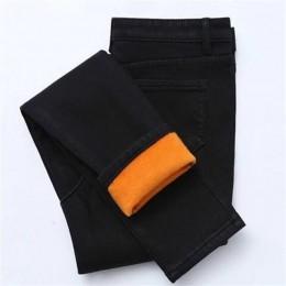 Nowe zimowe grube dżinsy z polarem dla kobiet Stretch ciepłe spodnie Skinny Denim aksamitne dżinsy rurki Stretch damskie spodnie