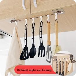 Kuchnia Gabgets szafka 6 Hook organizer do domu regał magazynowy spiżarnia skrzynia narzędzia ręczniki wieszak szafa ręcznik pół