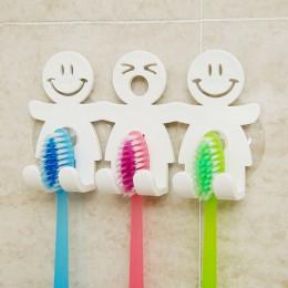 BalleenShiny Cute Cartoon łazienka kuchnia uśmiechnięta twarz szczoteczka do zębów wieszak na ręczniki haczyk na przyssawki orga