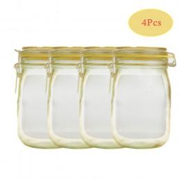Wielokrotnego użytku słój na przetwory butelki torby orzechy cukierki torba na ciasteczka wodoodporne uszczelnienie torba do prz