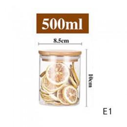 Mason słoik na cukierki na przyprawy szklany przezroczysty pojemnik szklane słoiki z zakrętkami słoik na ciastka słoiki kuchenne