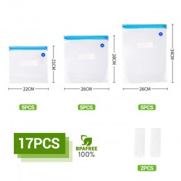20 sztuk/zestaw zestawy toreb wielokrotnego użytku przechowywanie żywności torebki foliowe próżniowe z pompą ręczną worki uszcze