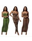 Seksowny wzór w cętki skóra węża sukienka kobiety Backless elegancka Bodycon smukła sukienka ołówkowa Plus rozmiar przepuszczaln