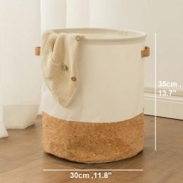Tyvek kosz na pranie płótno pudełko do przechowywania zabawek Splice elastyczny fornir brązowy torebka papierowa burlywood brudn