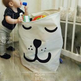 Składany kosz na bieliznę Super duży kosz do przechowywania zabawek dla dzieci bawełna do prania brudne ubrania duży koszyk orga