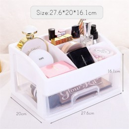 Organizator na przybory do makijażu szuflady plastikowe pudełko do przechowywania kosmetyków pojemnik na biżuterię kuferek kosme