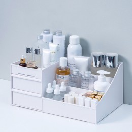 Elegancki organizer na kosmetyki z szufladkami przegródkami pakowny ozdobny dekoracyjny modny nowoczesny