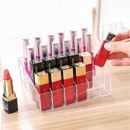 24 siatka akrylowa makijaż organizator etui na szminki pudełko do przechowywania pole kosmetyczne stojak lakier do paznokci maki