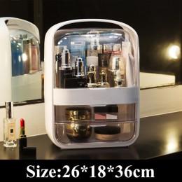 Kobiety łazienka pojemnik na kosmetyki wodoodporna i pyłoszczelna łazienka duży organizator na przybory do makijażu pielęgnacja