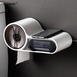 Wielofunkcyjny darmowym przepychaczem pudełko na chusteczki uchwyt na papier toaletowy uchwyt na papier plastikowy pojemnik do p