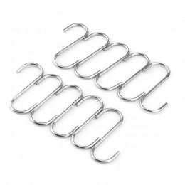 10 sztuk w kształcie litery S haki wiszące wieszak uchwyty do przechowywania antykorozyjne metalowe wieszaki metalowe haki Potho