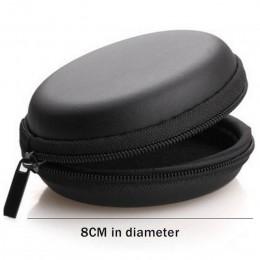 Organizer na kable USB etui na słuchawki Hand Spinner przenośny zestaw słuchawkowy box twardy okrągły kształt torba na słuchawki