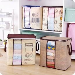 2020 nowe włókniny przenośne torby na ubrania organizator do torby 45.5*51*29cm składany organizer do szafy na poduszkę kołdra k