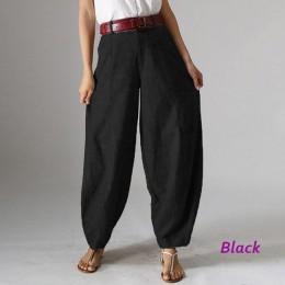 Dorywczo workowate spodnie haremki damskie jesienne spodnie ZANZEA 2020 Vintage zamek błyskawiczny z przodu Pantalon Plus rozmia