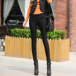 Zimowe wysokiej zwężone aksamitne spodnie dla kobiet białe czarne dopasowane spodnie dla kobiet 2020 jesień zagęścić ciepłe ubra