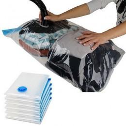 Worek próżniowy na pakiet ubrań skompresowany organizer na przestrzeń w szafie Saver przezroczyste uszczelnienie torby składane