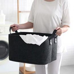 Urijk składana zabawka kosz na pranie wełna filcowe kosze do przechowywania brudne ubrania kosz uchwyt na zabawki worek do przec
