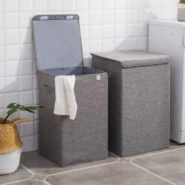 Duży kosz na pranie bawełniana pościel składane ubrania organizator kosz na pranie wodoodporne wiadro do prania Home Organizer ł