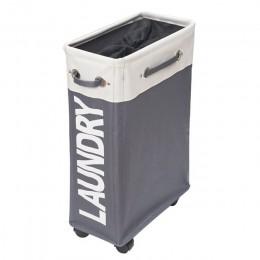 SHUSHI heavy duty składany kosz na bieliznę torba oxford slim pralnia roller organizer torba Home prosty składany kosz na bieliz