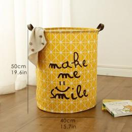 Duży pojemnik na zabawki duży rozmiar kosz na pranie pranie brudne ubrania rozmaitości pudełko typu organizer Bin składany wodoo