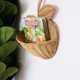 Rattanowy kosz w kształcie jabłka ręcznie robione naturalne owoce Organizer dekoracja pokoju dziecinnego tkane organizery dekora