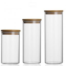Przechowywanie żywności szklany słoik bez ołowiu kuchnia butelki do przechowywania zamknięte puszki z pokrywą o dużej pojemności