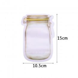 Przenośne wielokrotnego użytku PE słój na przetwory butelki torby przekąski cukierki herbatniki orzechy Zipper Sealed świeże prz