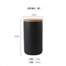 260 ML/800 ML/1000 ML uszczelniony ceramiczny pojemnik do przechowywania przypraw zbiornik pojemnik do jedzenia z pokrywką butel