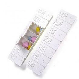 Raz w tygodniu 7 dni Tablet pojemnik do przechowywania medycyny sortować Box przenośne przechowywanie tabletek pudełka witaminy
