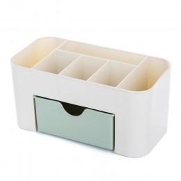 Organizer kosmetyczny biżuteria naszyjnik lakier do paznokci kolczyk plastikowe pudełko do makijażu na blat organizer na kosmety