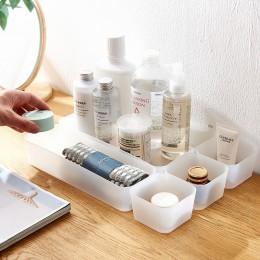 SUNEE plastikowy organizator do makijażu pudełko na przybory do makijażu szuflada kosmetyczna organizator biżuteria pojemnik Org