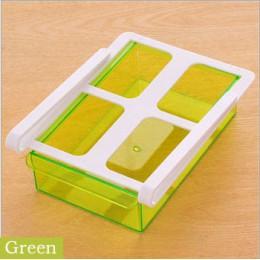 Slajdów lodówka do kuchni zamrażarka organizator oszczędzający miejsce szuflady pudełko do lodówki na slajd pod stelaż półki org