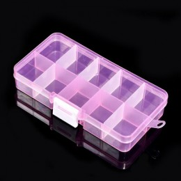 Odpinane przeźroczyste tworzywo sztuczne kolczyki pudełko z biżuterią przenośne małe pudełko na pigułki wielofunkcyjne pudełko d