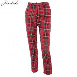 Macheda letnie nowe mody kobiet dorywczo spodnie ubrania kratę kobiece spodnie Harem kobiet 2018 nowe czerwone spodnie dorywczo