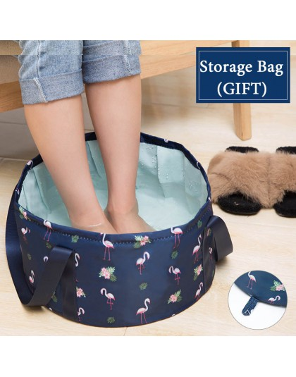 Składana umywalka podróżna umywalka kempingowa wiadro wędkarstwo składana umywalka kąpiel stóp zlew koszyk na pranie Spa stóp wi