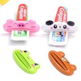 1pc zwierząt łatwy dozownik pasty do zębów plastikowy ząb wklej wyciskacz do tubki przydatne pasta do zębów Rolling Holder dla d