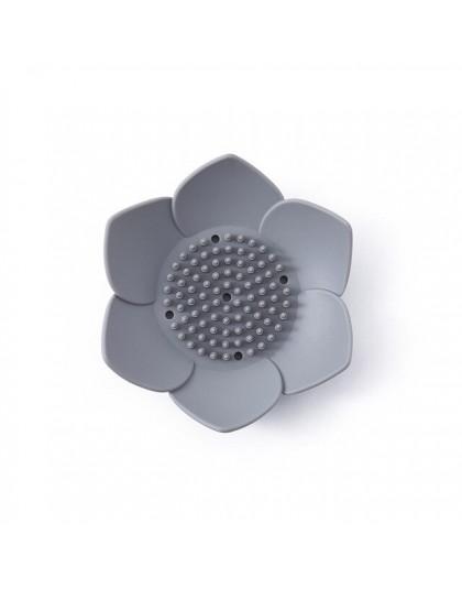 Opróżniania mydelniczka mydło pole płyta lotosu kształt silikonowe uchwyt skrzynki przenośny mydelniczki mydelniczka