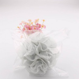 Loofah piłka do kąpieli myjka 1 PC mleko akcesoria prysznicowe akcesoria do łazienki PE w formie kwiatu łazienkowa miękkie