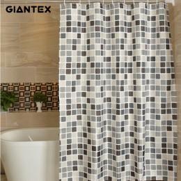GIANTEX Plaid kurtyna łazienkowa wodoodporny prysznic zasłony do łazienki Cortina Ducha Rideau De Douche Douchegordijn U1269