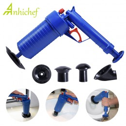 Air Power Blaster do odpływu pistolet wysokociśnieniowy potężny ręczny tłok rura zatkać pogłębiarka Remover toalety zlew wanna d