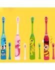 1 sztuk Cartoon śliczne dzieci automatyczne elektryczna ultradźwiękowa wodoodporna szczoteczka do zębów wygodne przenośne zdrowi