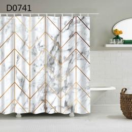 YOMDID marmurowy wzór zasłona wanny wodoodporny prysznic zasłony geometryczne zasłonka do kąpieli drukowane zasłona do łazienki