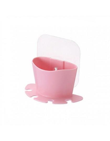 UNTIOR plastikowy uchwyt na szczoteczki do zębów z kubek do płukania ust ściany przyssawki stojak golarka szczotka do zębów dozo