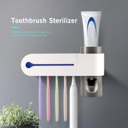 Sterylizator szczoteczki do zębów automatyczna pasta do zębów antybakteryjne światło ultrafioletowe dozownik ultrafioletowy uchw
