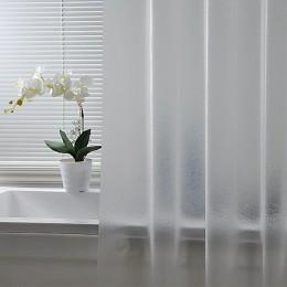 Nordic plastikowy wodoodporny peva zasłona prysznicowa przezroczyste zagęszczane kurtyny kąpielowe matowa atmosfera przegroda za