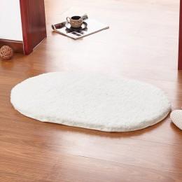 Mrosaa 40x60cm miękkie maty do kąpieli dywan do sypialni lub łazienki pluszowa mata antypoślizgowa podkładka owalna wycieraczka